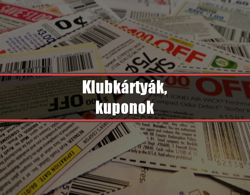 Klubkártyák, kuponok